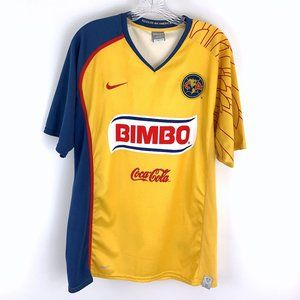 Club America Mexican Soccer Nike Fit Dry Jersey L